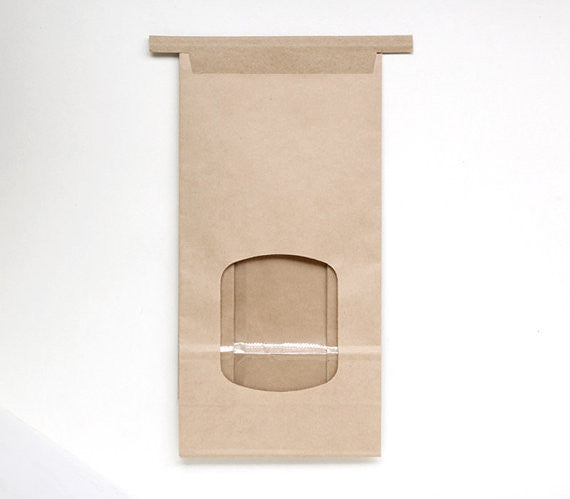 Kraft Paper Bakery Bags with Window