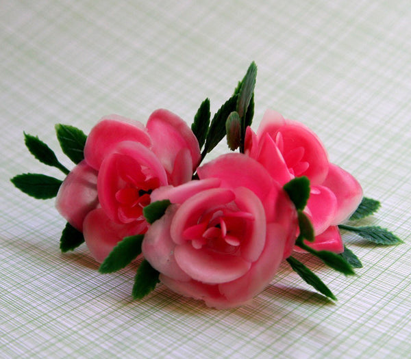 SALE: Pink Rose Cupcake Toppers