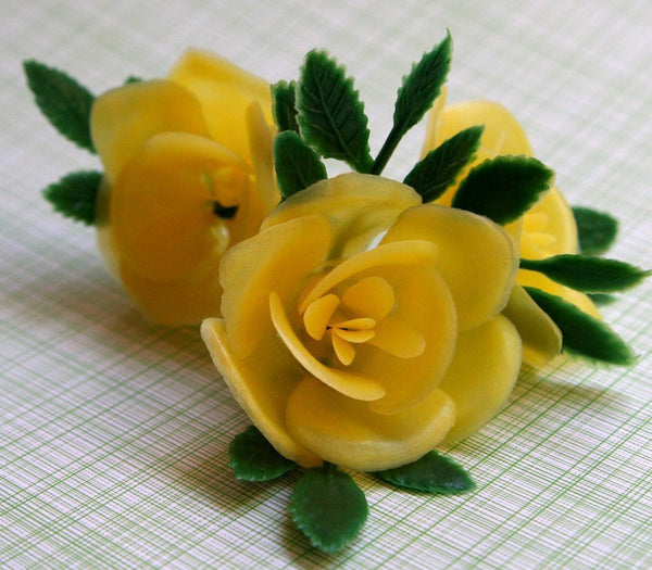 SALE: Yellow Rose Cupcake Toppers