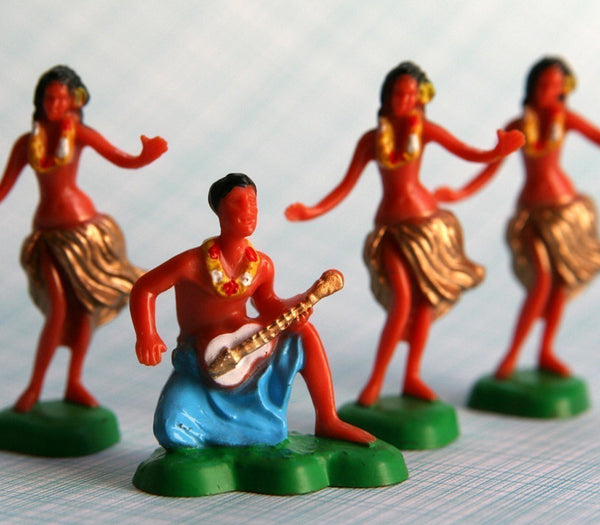 Hawaiian Hula Dancer Cake Toppers