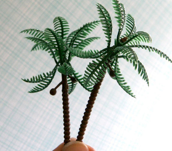 palm tree cupcake picks