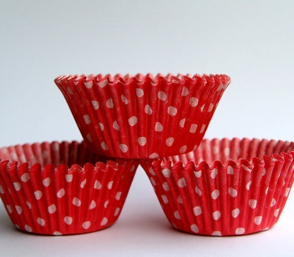 Red Polka Dot Cupcake Liners