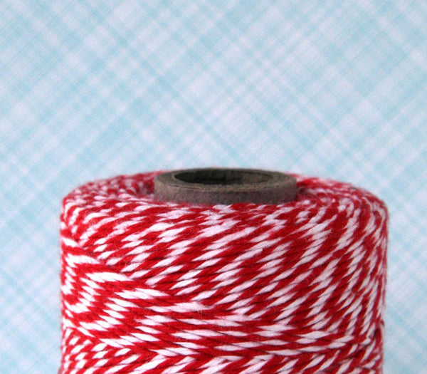 Red Baker's Twine - Red and White Striped Twine