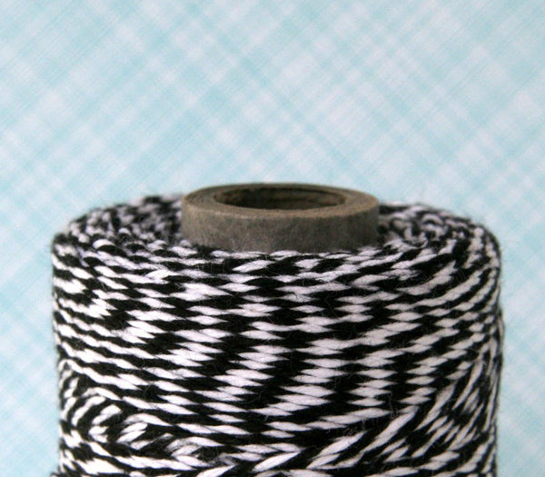 Black and White Striped Bakers Twine
