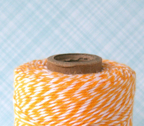 Yellow Bakers Twine - Lemondrop Yellow and White Striped Twine