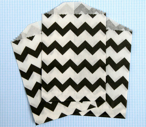 Black Chevron Bags - Small