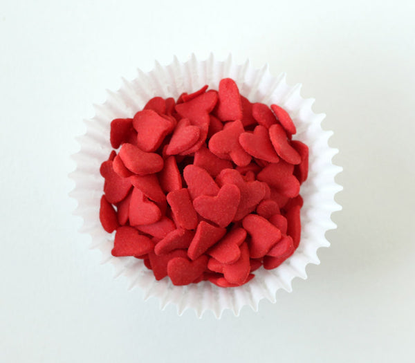 Jumbo Red Heart Confetti Sprinkles