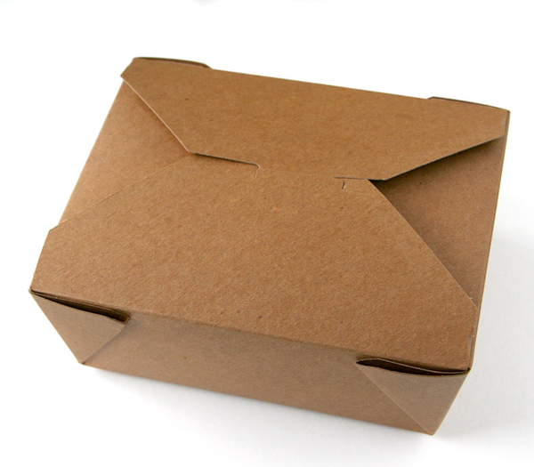 Kraft Take Out Box, medium size