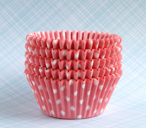 Light Pink Polka Dot Cupcake Liners