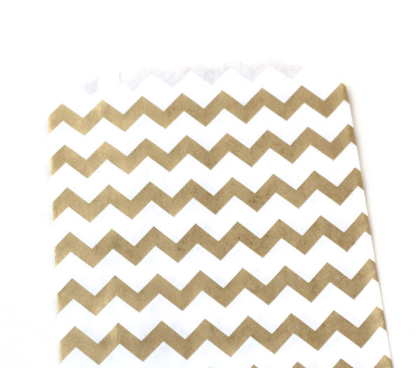 Gold Chevron Goody Bag