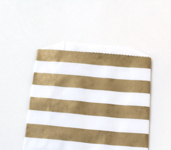 Gold Stripe Goody Bag