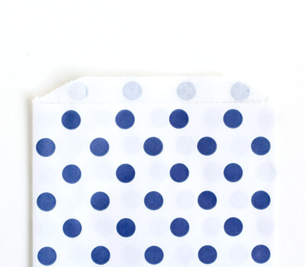 Navy Blue Polka Dot Bags