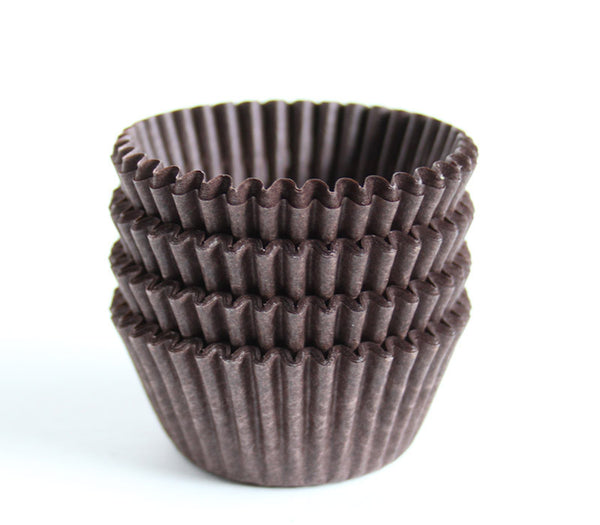 Brown Mini Cupcake Liners