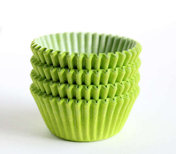 Mini Lime Green Cupcake Liners