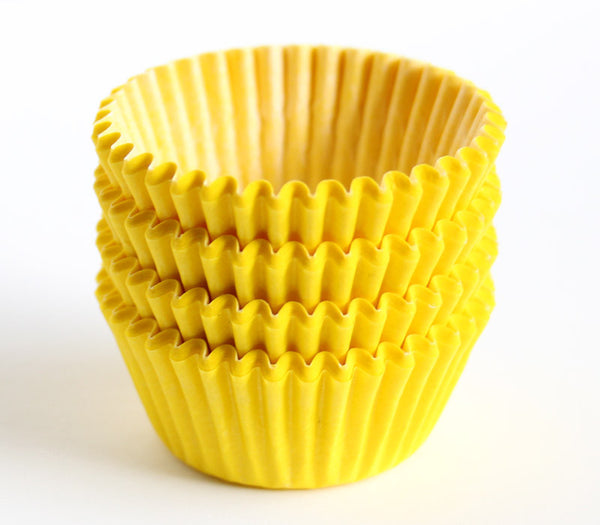 Yellow Mini Cupcake Liners