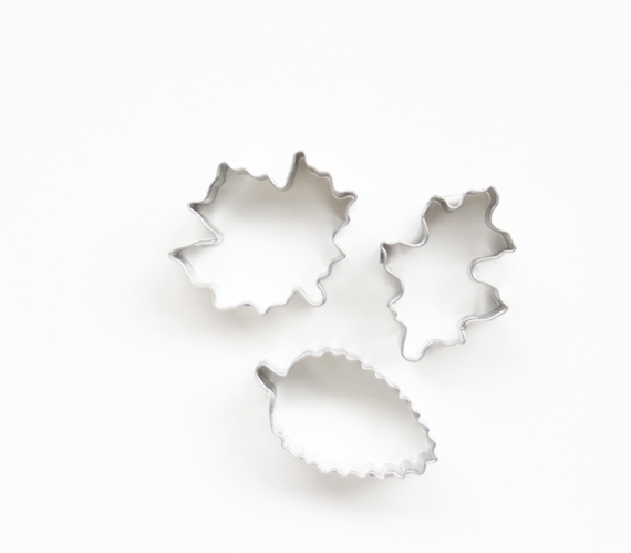 Mini Fall Leaves Cookie Cutters
