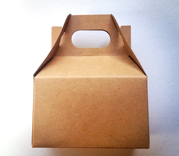 Mini kraft gable box, wedding favor, baby shower favor box