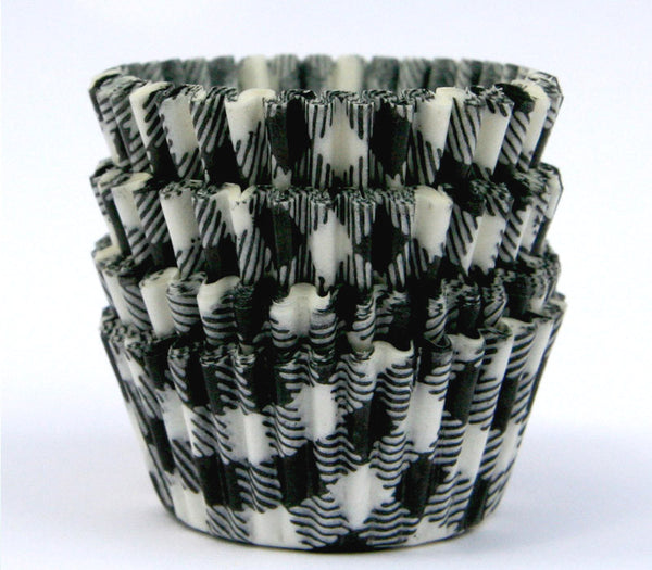mini cupcake liners baking cups black gingham