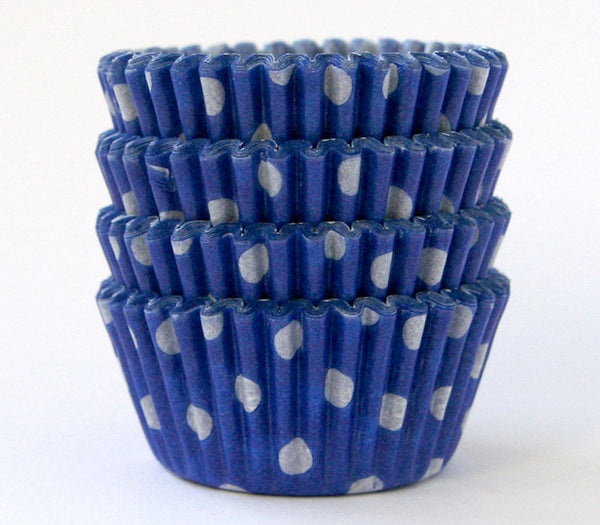 MINI Blue Polka Dot Cupcake Liners