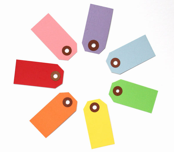 Little Parcel Tags - Rainbow Mix