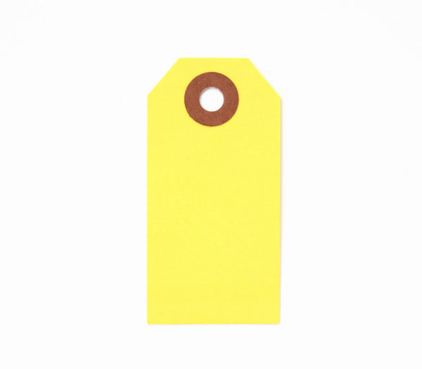 Yellow Shipping Tag