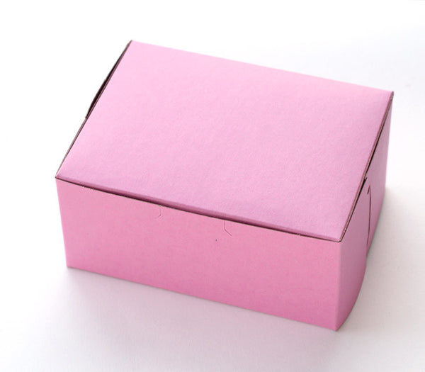 Small Pastry Box - Pink Bakery Box