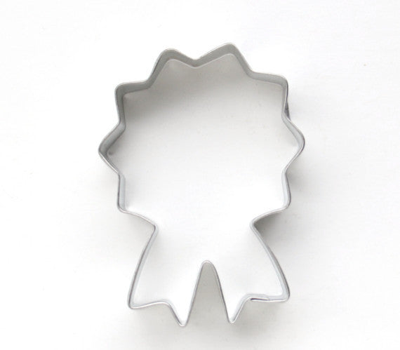 Prize ribbon cookie cutter