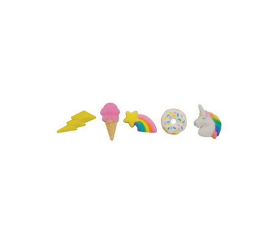 Rainbow Party Sugar Decorations
