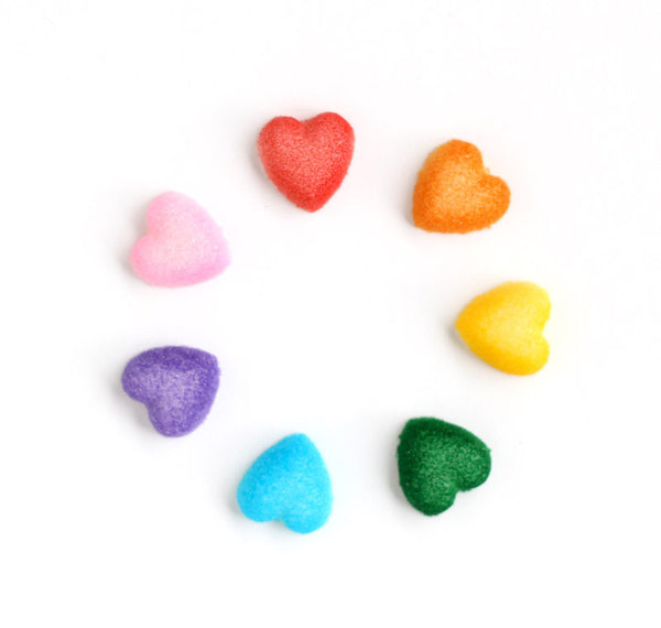 Rainbow Heart Sugars