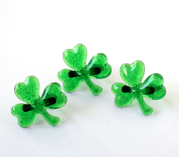Green Shamrock Cupcake Toppers