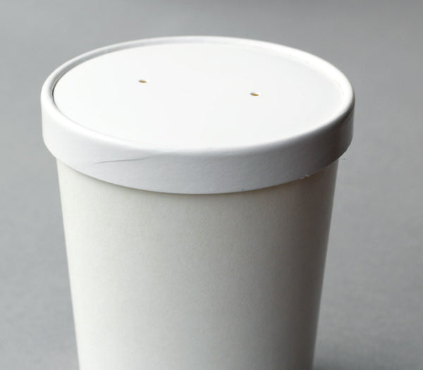 Large White Paper Soup Container / Ice Cream Container