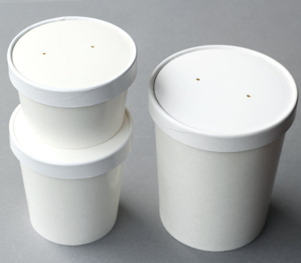White Soup Containers - 3 sizes