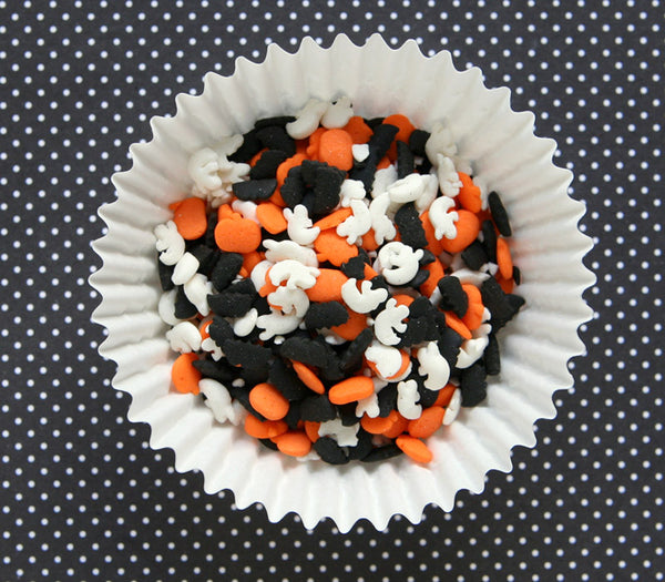 Spooky Halloween Mix Sprinkles - Cat, Pumpkin and Ghost Sprinkles
