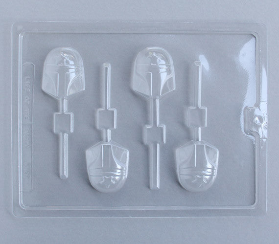 Star Fighter Chocolate Lollipop Mold