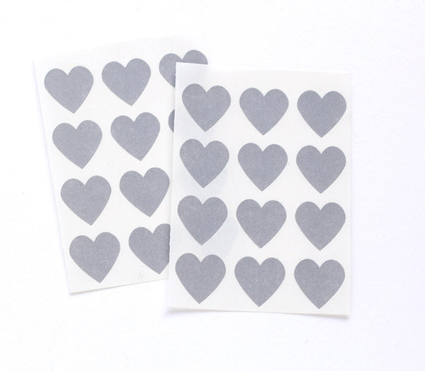 Gray Heart Stickers