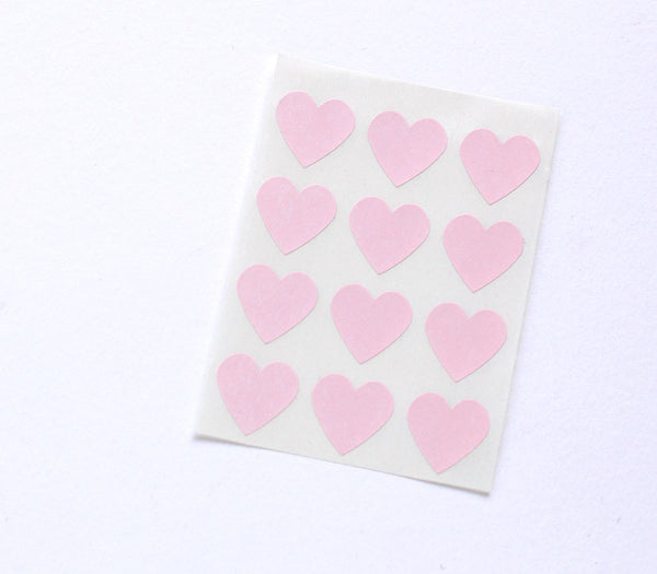 Pale Pink Heart Stickers