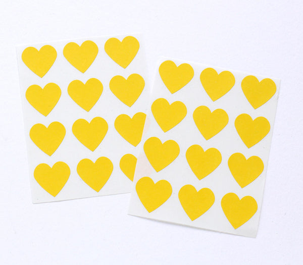 Small Yellow Heart Stickers