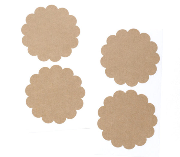 Kraft Scalloped Stickers