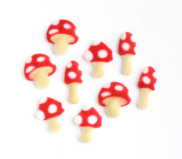 Toadstool Sugar Decorations