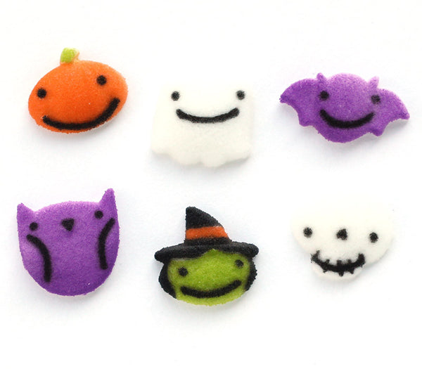 Halloween Sugar Decorations for Cupcakes and Cakes, Frightful Charms