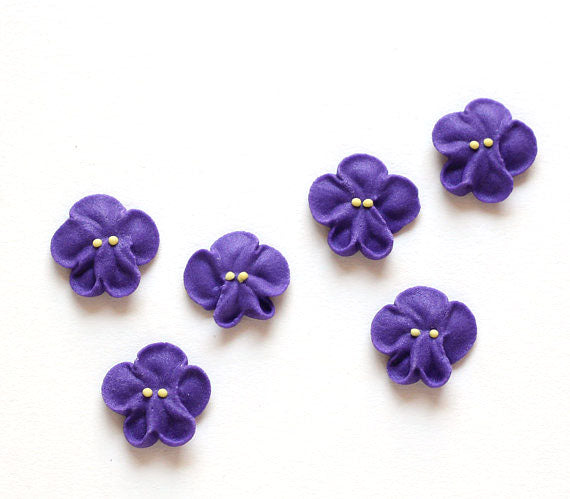 Violet Icing Decorations