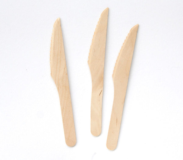 Wooden Knives - 100 Count