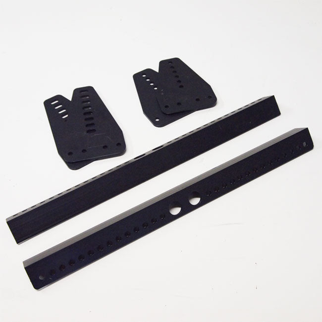 Seat Bracket 3 piece Side Mounted Black