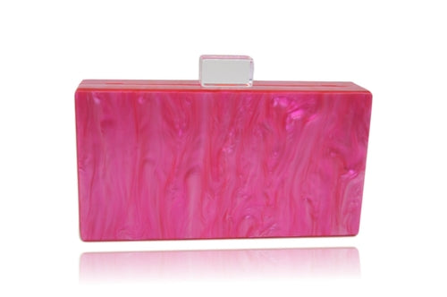 Electric Pink Acrylic Box Clutch