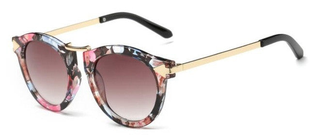 ROYAL GIRL Summer fashion Brand Designer Vintage Trend Sunglasses Round Retro Sun Glasses lady chic shades ss084