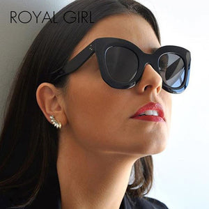 ROYAL GIRL Vintage Sunglasses Butterfly Style Women Brand Designer chunky Glasses for ladies ss223