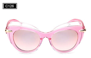 ROYAL GIRL Fashion Cat Eye Sun glasses for Women Big Frame Sunglasses Vintage Brand Designer Glasses ss748