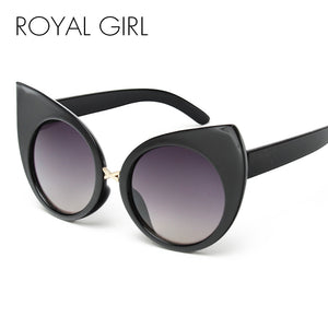 ROYAL GIRL New Fashion Exaggeration Cat Eye Sunglasses Women Vintage Brand Designer Metal Frame Glasses ss443