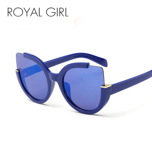 ROYAL GIRL New Fashion Cat Eye Sunglasses Women Brand Designer Vintage Sun Glasses Women Oculos De Sol Feminino ss502