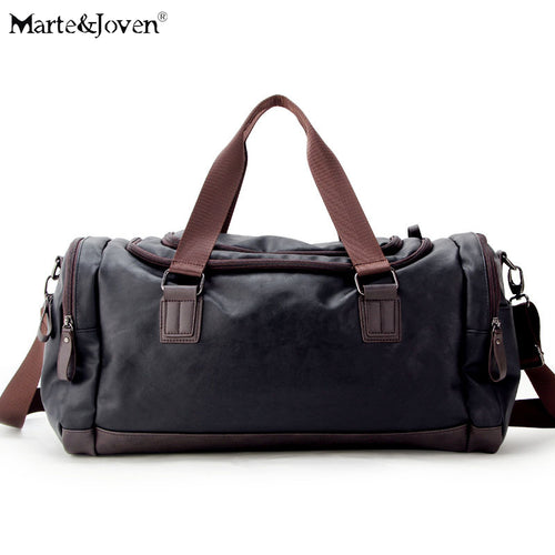 New Arrive Retro PU Leather Travel Bags  Designer High Quality Luggage Bag Large Capacity Waterproof Duffle Bag